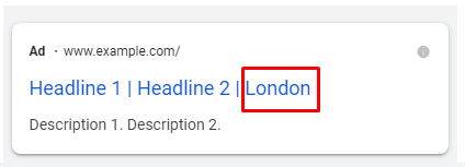 Advanced Dynamic Location Insertion in Google Ads