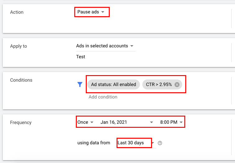 Enabling ads with a low CTR