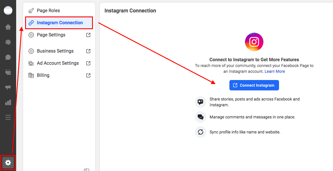 Connect your Instagram account to Facebook Business Suite