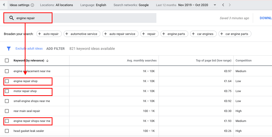 Keyword Planner provides you with relevant keywords for single-product ad groups