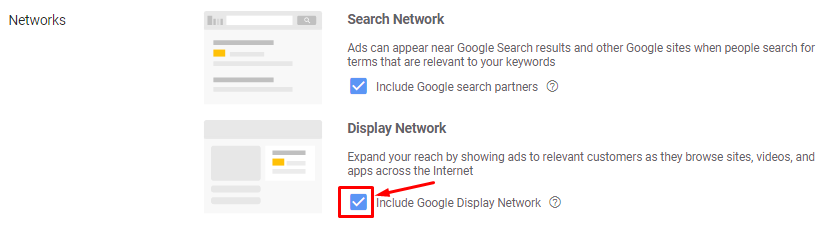 Uncheck the checkbox to exclude ad shows on GDN