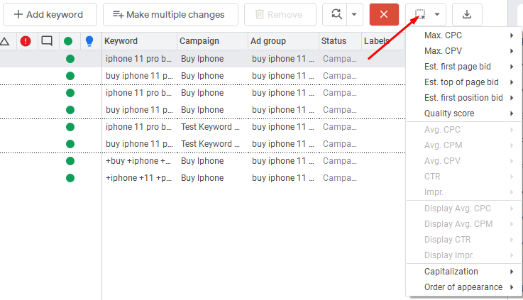 You can edit or remove duplicate keywords with lower performance