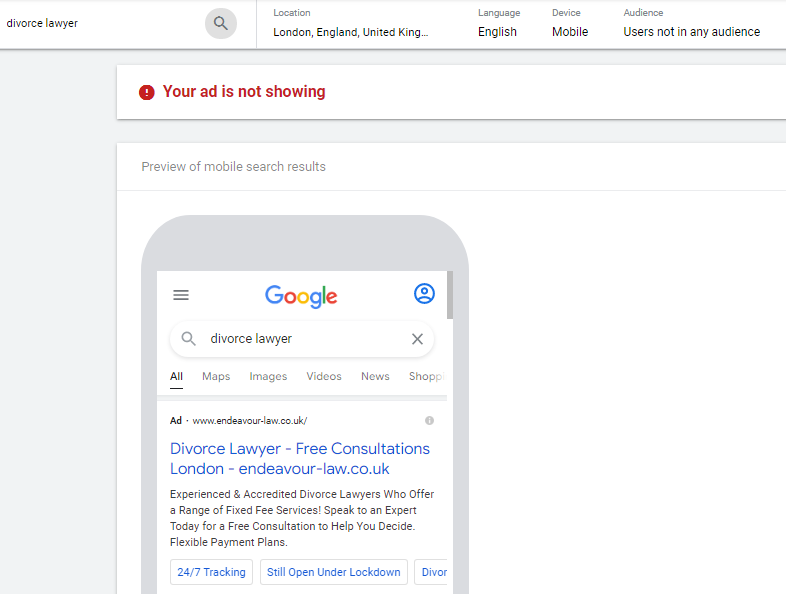 Ad Preview and Diagnosis Tool in Google Ads