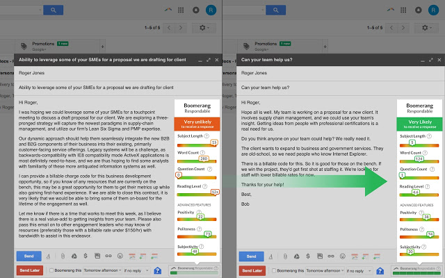 That's how AI helps you write better emails