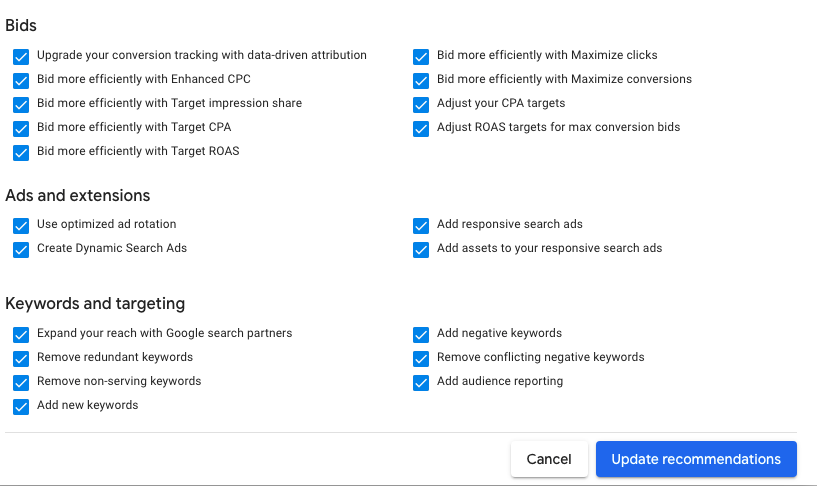 How Do Auto Apply Recommendations on Google and Microsoft Work